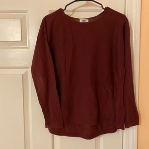 Red old navy sweater